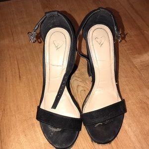 Shoes - Black Strap High Heels💞